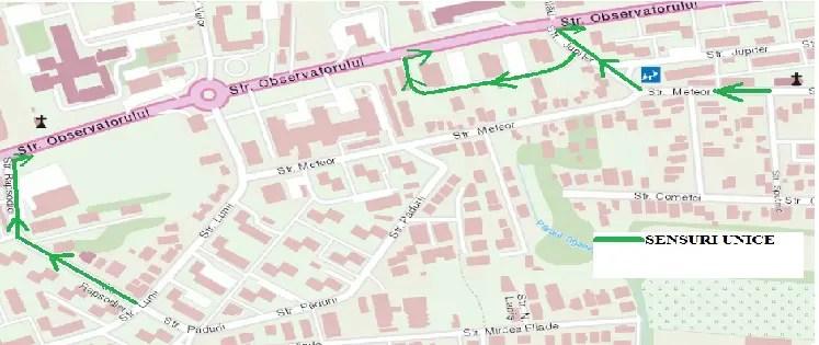 Noi măsuri de circulație pe strada Observatorului din Cluj
