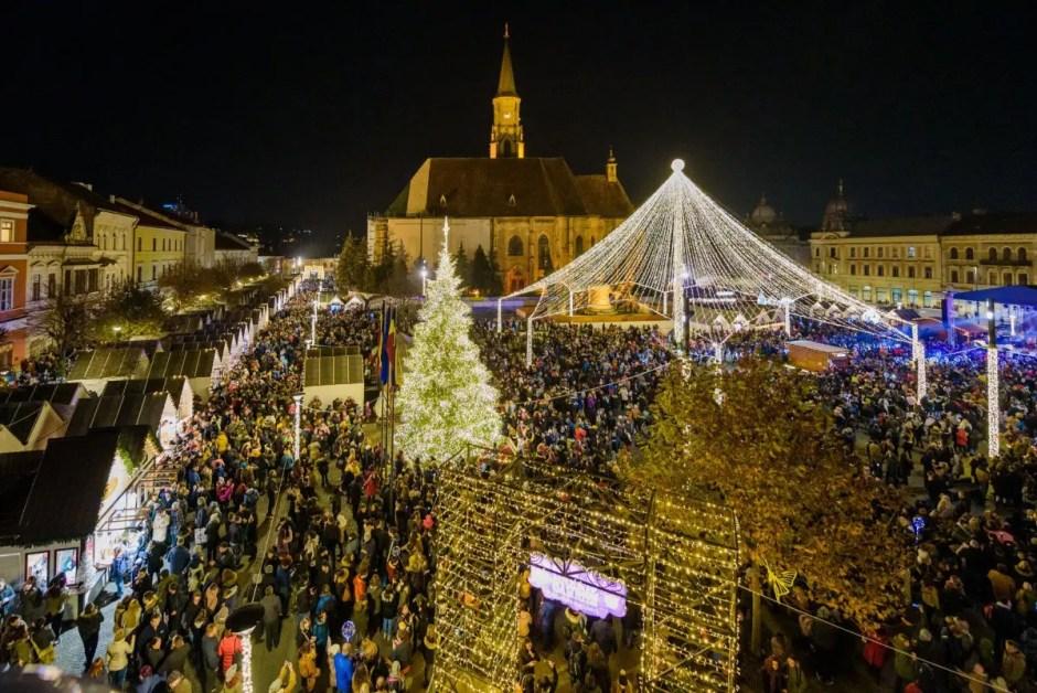 Târgul de Crăciun din Cluj-Napoca se numără printre cele mai frumoase 20 astfel de târguri din Europa