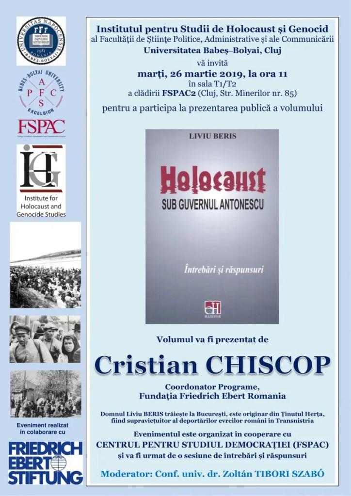 Povestea unui supraviețuitor al deportărilor din Transnistria prezentată la FSPAC Cluj
