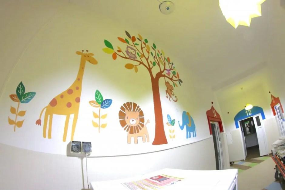 O întreagă secţie din cadrul Spitalului Județean de Urgență pentru Copii Cluj a fost reabilitată şi modernizată
