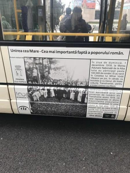 Proiect inedit: lecţii de istorie pe autobuzele din Cluj