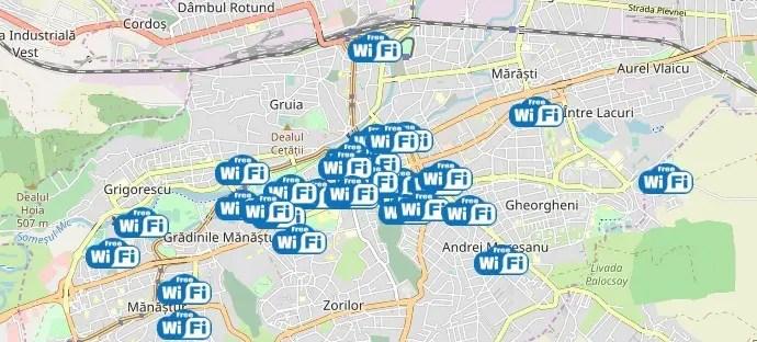 18 noi locații de WI-FI gratuit în Cluj-Napoca