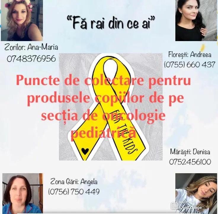 """""""Din inima Clujului"""" - proiectul care le aduce un zâmbet pe buze copiilor internaţi la Oncologie Pediatrică Cluj"""