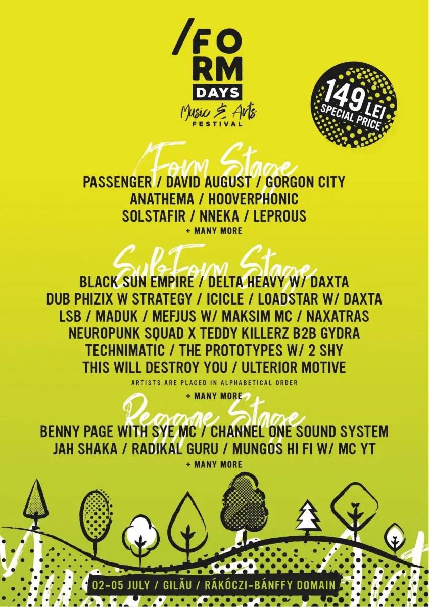 Primii artişti anunţaţi la cel mai nou festival de muzică din Cluj: /FORM DAYS