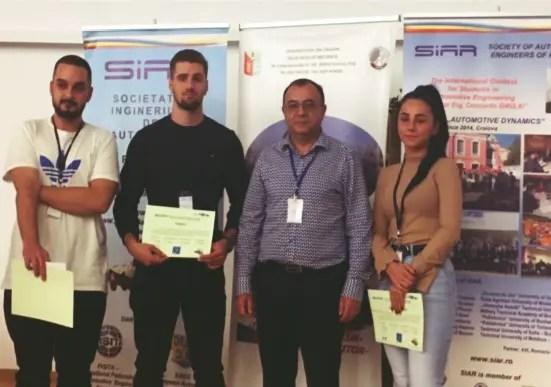 Premii importante obţinute de studenţii Universităţii Tehnice la un concurs organizat în Craiova