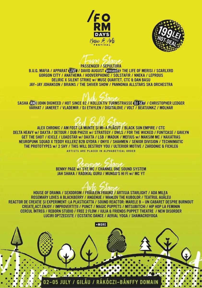 Noi artişti anunţaţi la festivalul /FORM DAYS