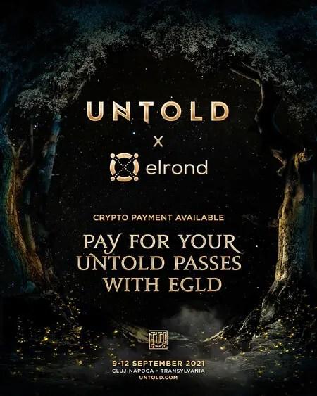 Abonamentele la UNTOLD 2021 pot fi cumpărate şi cu EGLD - criptomoneda lansată de românii de la Elrond Network