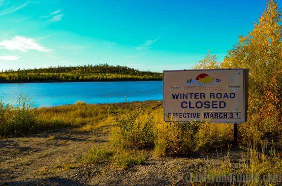 Winter road in summer/ Lodowa droga latem