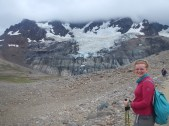 Glacier at the top of the mountain