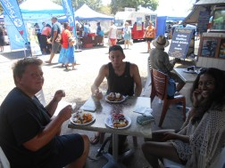 Awesome pancake breakfast at the market with the best divers ever Oscar and Arie