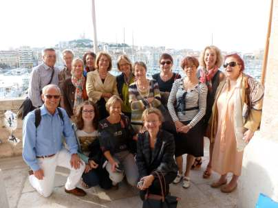 Auf dem Balkon des Marseiller Rathauses