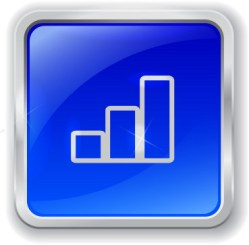 bigstock-Graph-Icon-On-Blue-Button-46279843