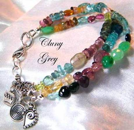 Multi Gemstone Bracelets Cluny Grey Jewelry