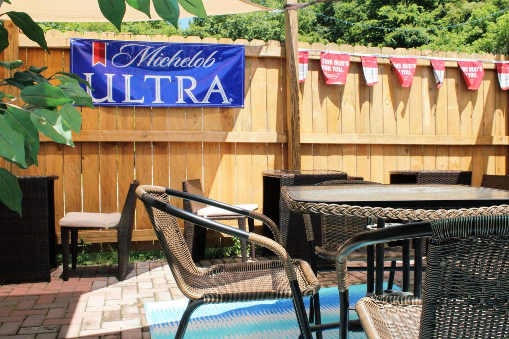 Patio at The Hideout in Parkersburg, WV
