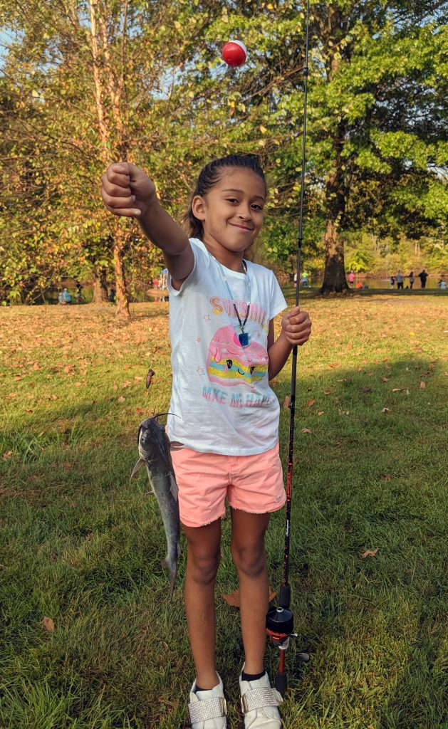 Union volunteers introduced more than 160 youth to fishing during the Marietta Take Kids Fishing Day event Sept. 21 in Buckeye Park.