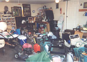 Garage before clean-up and organizing