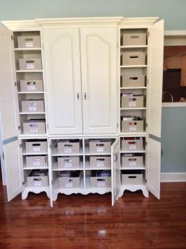 CD Cabinet After organizing
