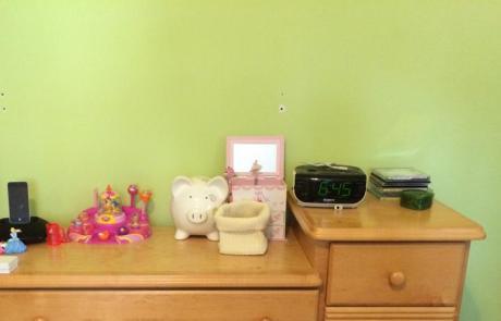 Bedroom resser, decluttered