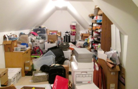 Attic, to be professionally decluttered and organized!