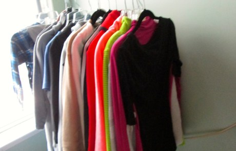 Bedroom clothes corner, professionally decluttered and organized!