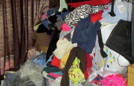 Clothes corner, to be professionally decluttered and organized!