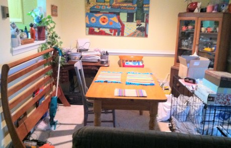 Dining room, professionally decluttered and organized!