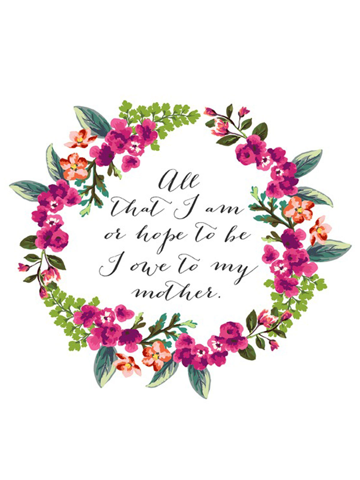 15 Cute Free Printable Mothers Day Cards