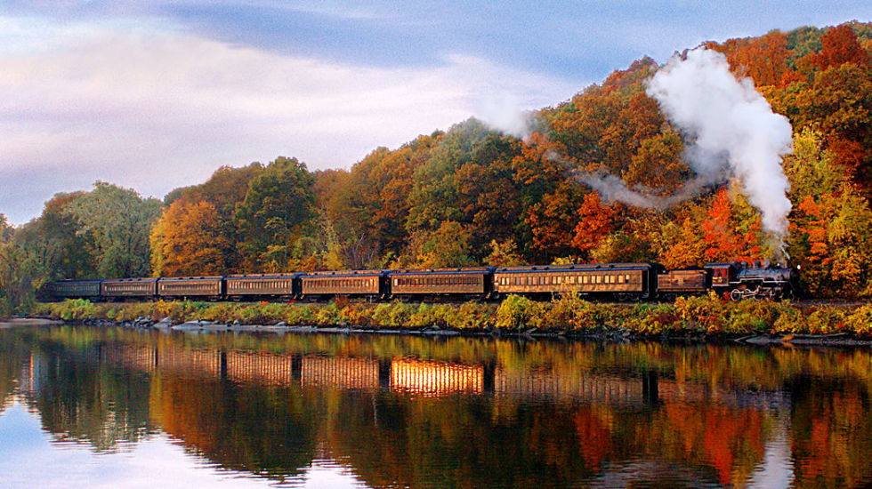 Image result for train in autumn