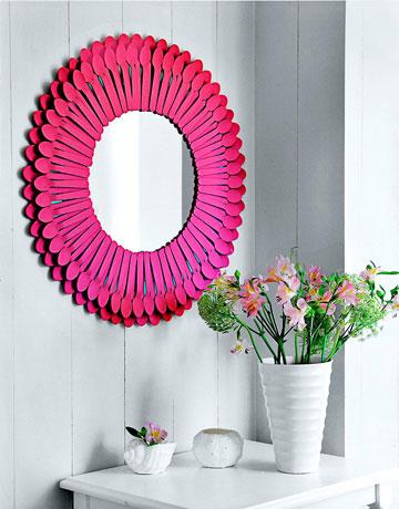 DIY espejo con cucharas