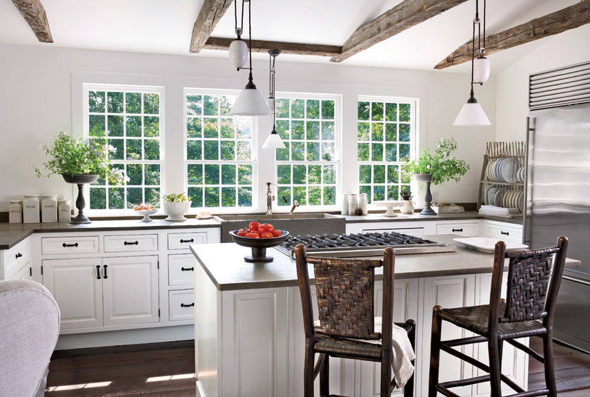 White Country Style Kitchen