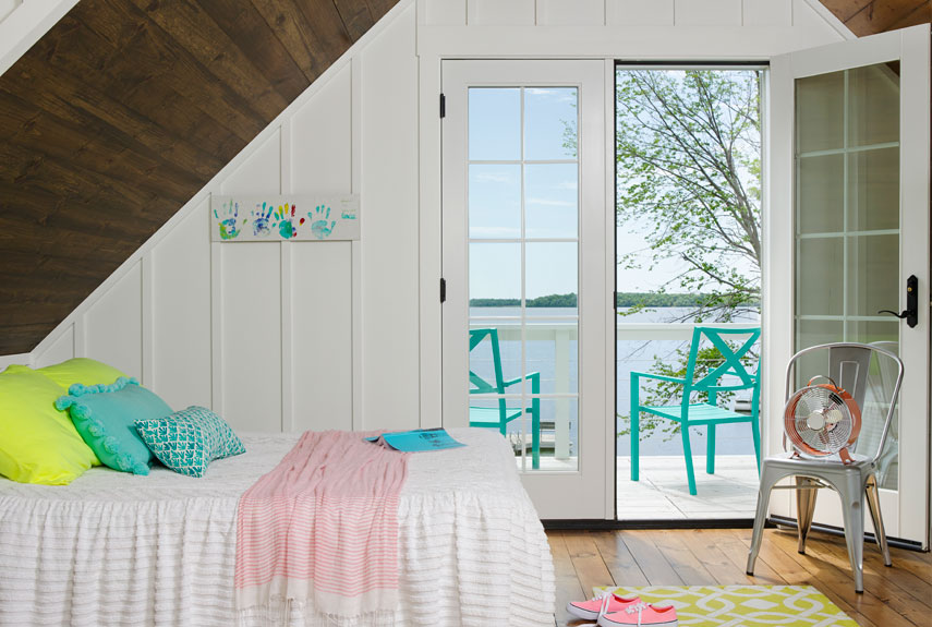 A little bright goes a long way, so limit the full-throttle shades to accents and put it in neutral everywhere else. Even neon (yes, neon) looks smart when used sparingly. In daughter Lia's attic bedroom, a highlighter-yellow pillow and rug feel vibrant and hip without overwhelming the space, thanks to the more muted teals and pinks. RELATED: 42 Kids' Rooms You'll Both Love