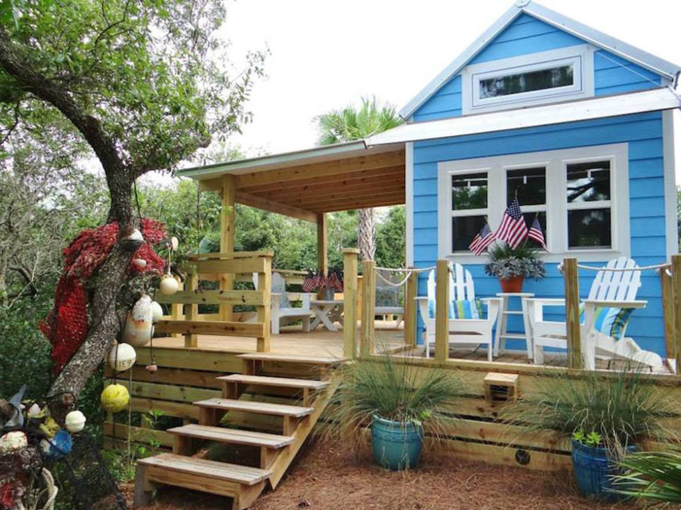 "This tiny beach cottage on Florida's St. George Island is called ""Our Little Secret"" by its owners. Small in size, it's mighty in design: Its coastal-cracker exterior is made of a Structured Insulated Paneling System built to withstand hurricane-force winds, while its cheery interior features beadboard walls and ceilings and bamboo floors. Including the loft space, the 325-square-foot cottage sleeps two to four people, while a generous deck expands the living space into the outdoors for a perfect vacation retreat. —ESN<br /><br /><br /><br /><br /><br /><br /><br /><br /><br /><br /><br /><br /><br /><br /><br /><br /><br /><br /><br /><br /><br /><br /><br /><br /><br /><br /><br /><br /><br /><br /> Look inside Our Little Secret by the Sea."