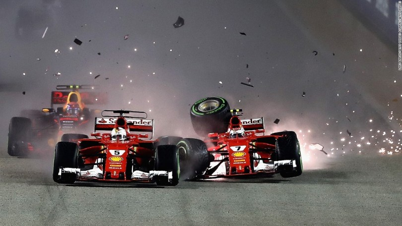Singapore showdown as F1 favourite Vettel blows it and Hamilton speeds to victory