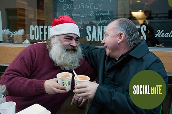 Over 60,000 Christmas dinners and counting have been donated to the homeless through this year's itison and Social Bite campaign
