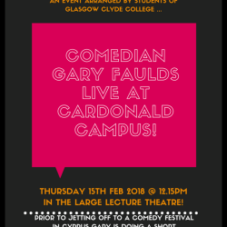 Glasgow comedian Gary Faulds coming to Glasgow Clyde College