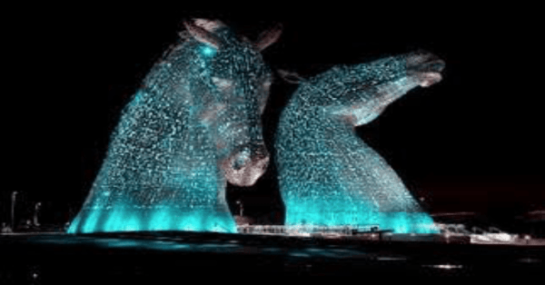 Scotland lights up blue for World Parkinson's Day