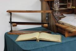 Paper wrapper holder, fox farming record book