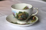Ridgway Potteries - Royal Vale - Royal standard - featuring cottage scene, Pattern no. 7382, Style A