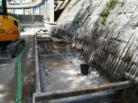 Muro/Pórtico de suporte no Valazedo - Obra em construção