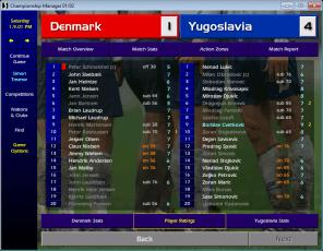 Denmark v Yugoslavia