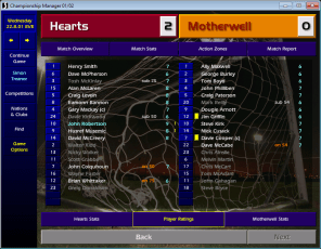 Hearts v Motherwell SPL