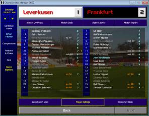 Leverkusen v Frankfurt BL