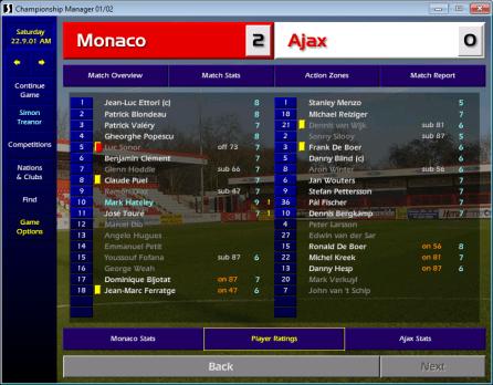 Monaco v Ajax UCL