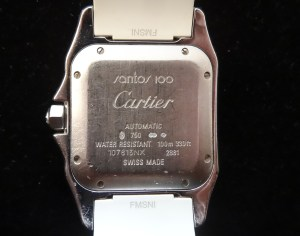 Montre Cartier Santos 100 Femme Blanc et Diamants