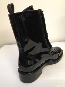 Bottes Ranger vernis noir Louis Vuitton Femme