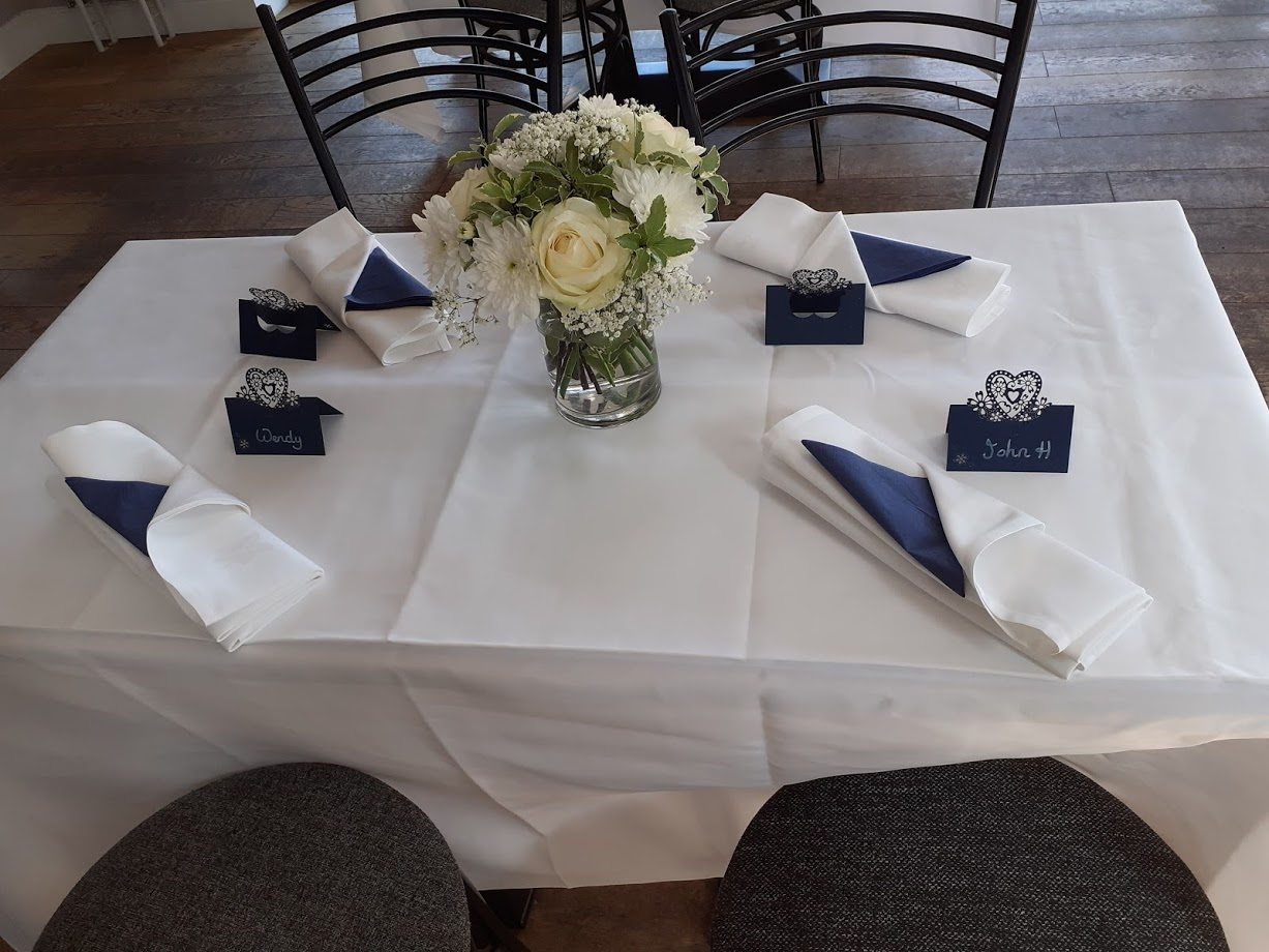 Navy Decorations - Flowers provided by Brides Friend