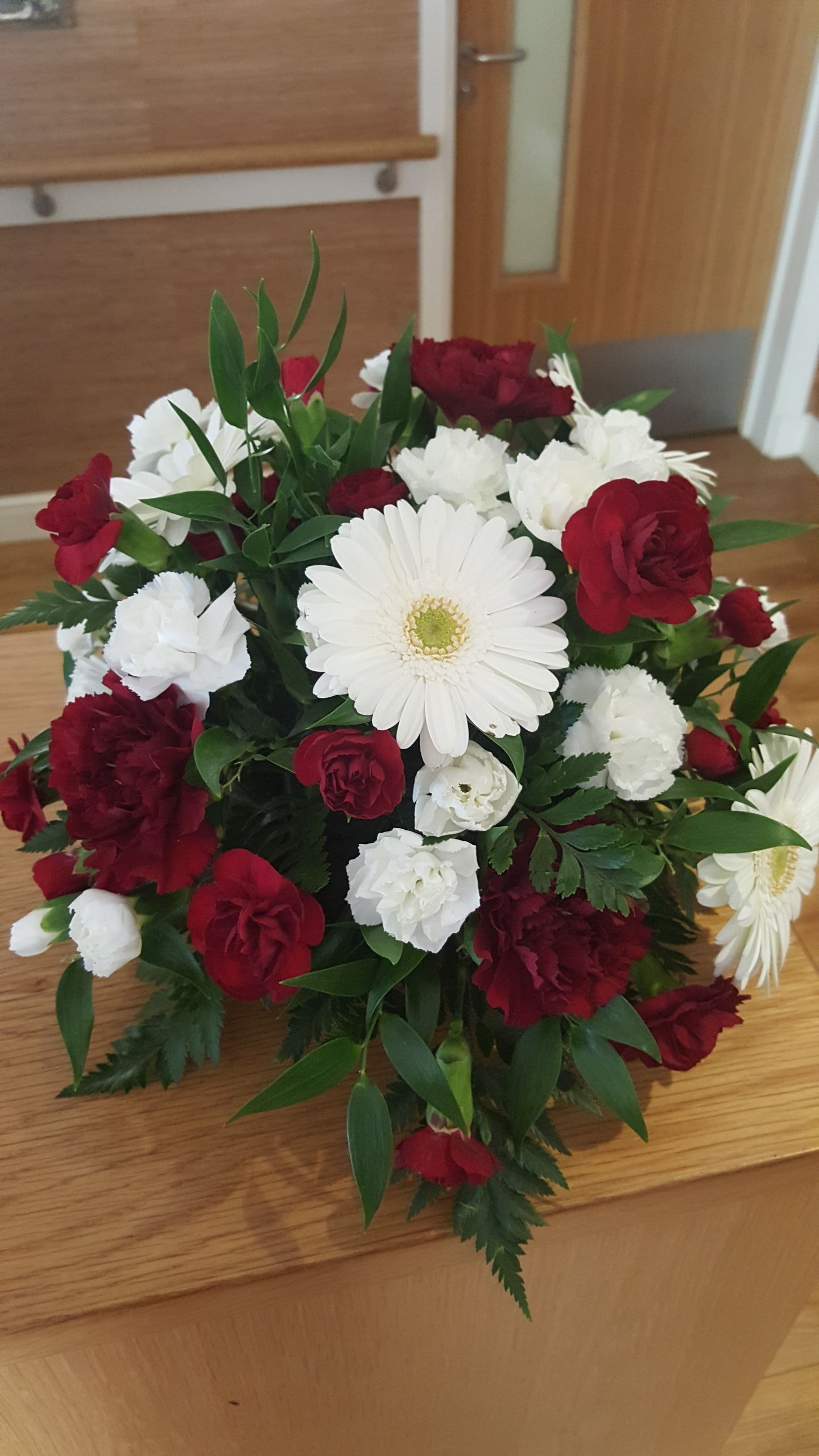 White and red Flower Arrangement