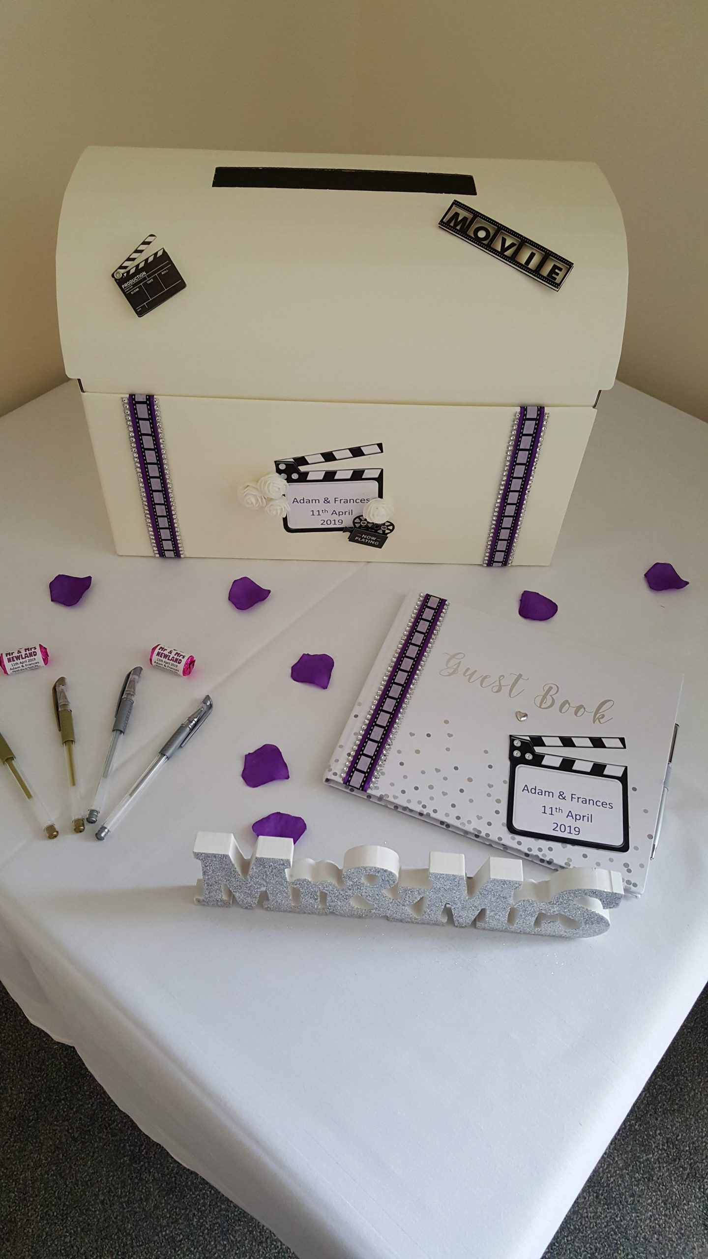 Movie purple themed Postbox