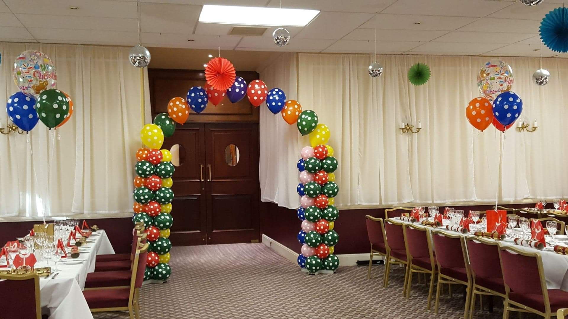 Polka Dot themed Balloon Arch