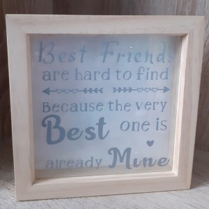 best friend shadow box silver